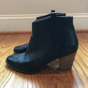 Madewell Billie Boot, Black Leather, Size 9.5